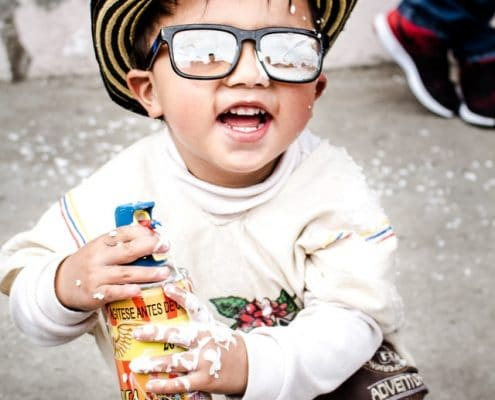 Funny kid wearing sun glasses