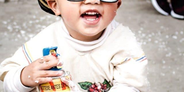 Funny kid wearing sun glasses